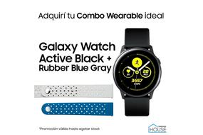 Combo Galaxy Watch Active Black con Rubber Blue Gray