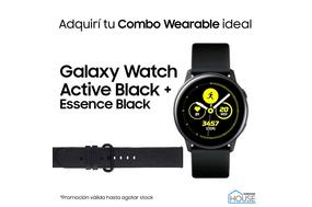 Combo Galaxy Watch Active Black con Essence Black